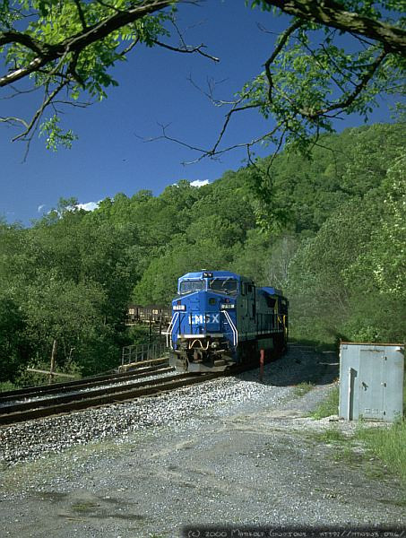 Shoving upgrade at Amblersburg, WV. 2000.