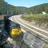 Coal drag leaving East Grafton, WV. 2003.