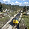 Helpers on a coal drag at Tunnelton, WV. Old West Virginia Northern RR interchange at left. 2003.