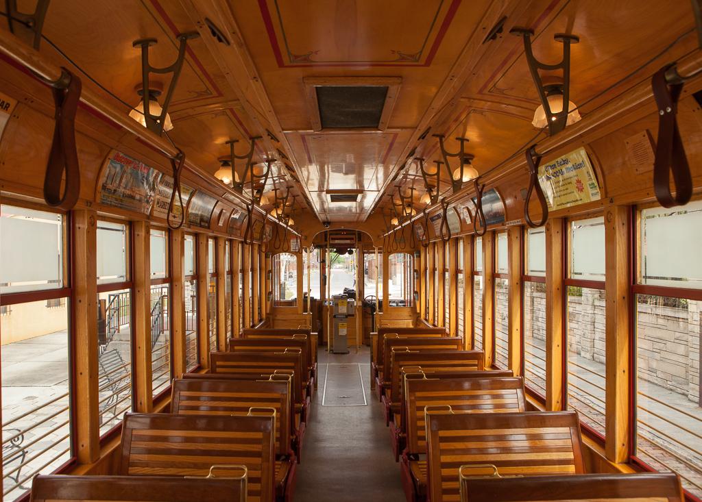 Trolley inside.