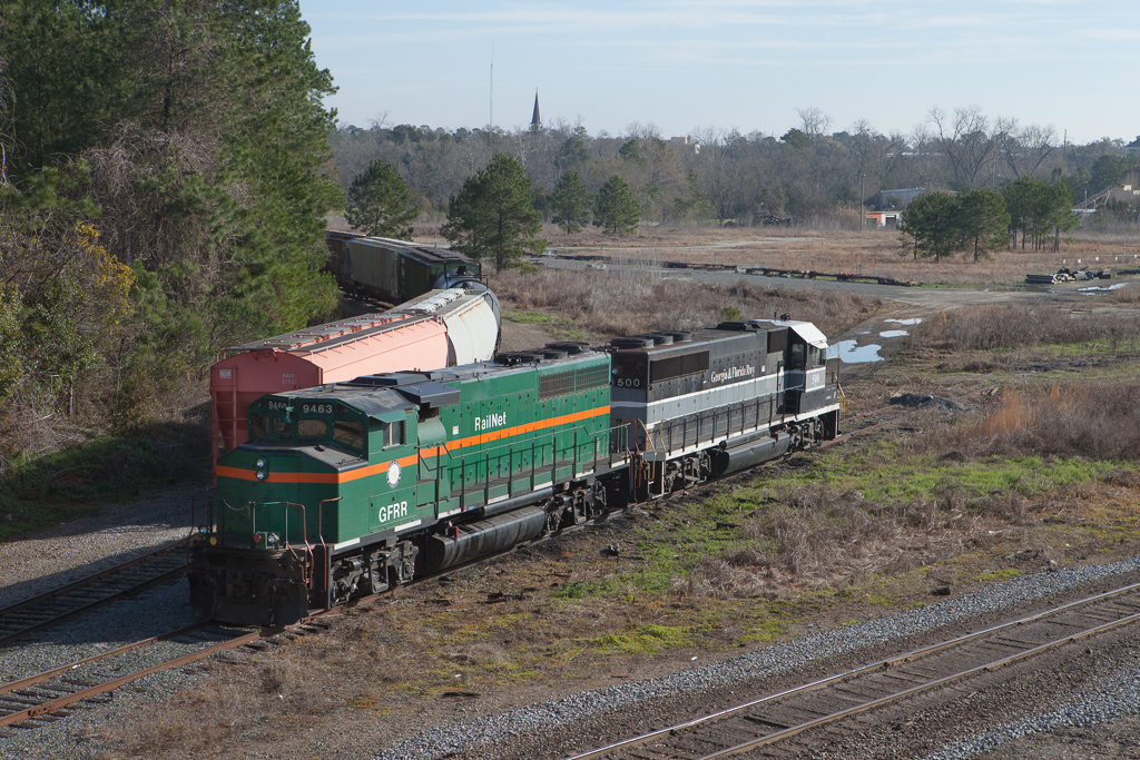 Georgia & Florida RR (formerly Georgia-Florida Railnet) power in Thomasville, Ga.