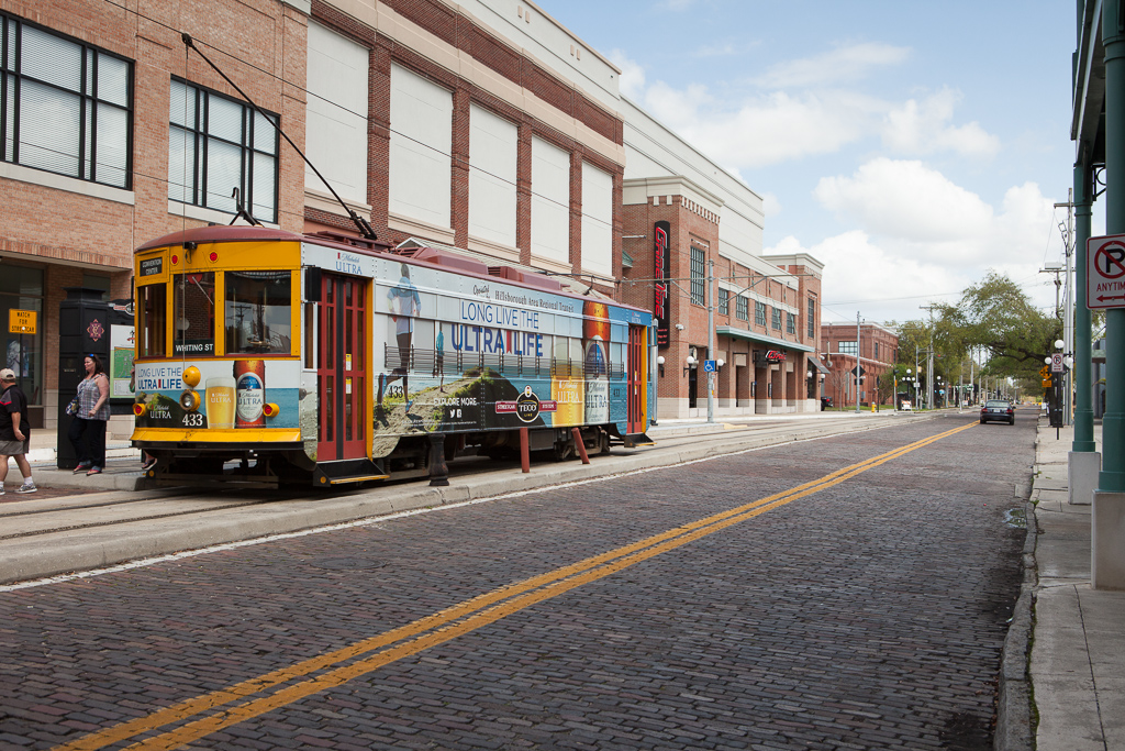 Trolley in Ybor CIty.