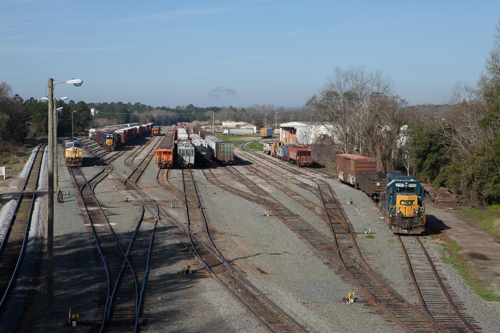 Division point yard in Thomasville, Ga.