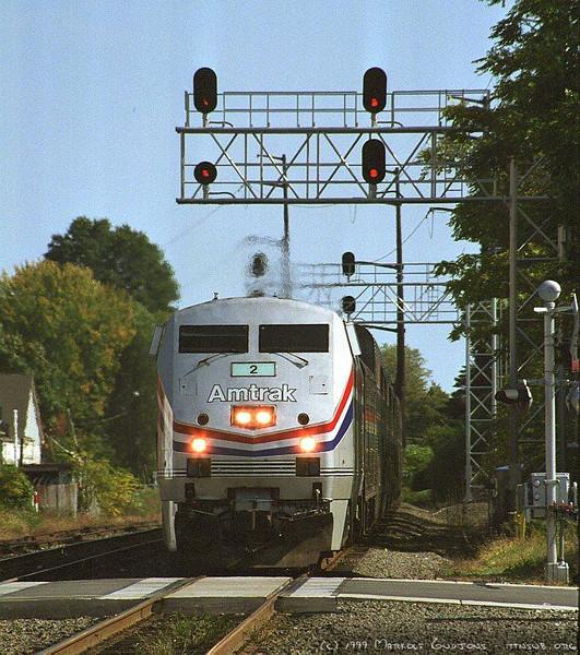 Amtrak Cardinal at Manassas, VA. 1999.