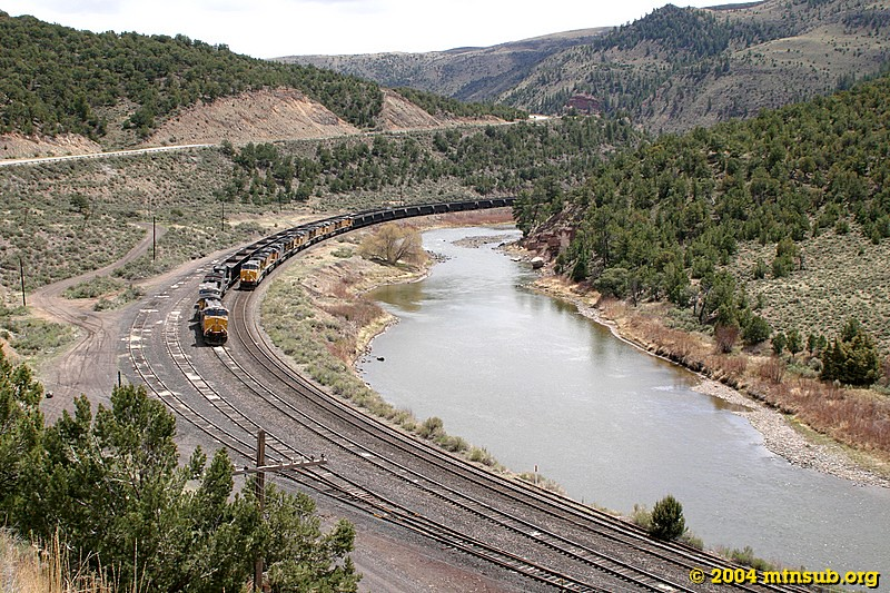 Bond, CO (still known as Orestod to old heads) is a crew change point for Denver and Grand Junction crews, as well as the junction of the Craig Branch. An empty move pulls up on the main for the crew to go off duty.