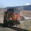 Westbound Denver-Grand Junction train leaving Bond on the Dotsero Cutoff.