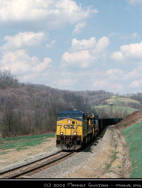 CSX 531 with N57, 16-Apr-2002.