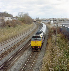 VIA F40PH-2 6406 westbound between Montreal and Dorval.