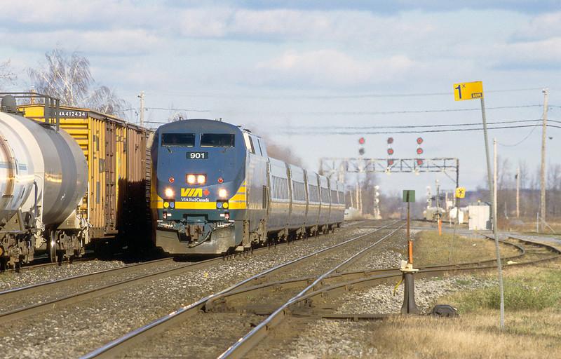 VIA 901 westbound Montreal - Ottawa in Coteau.