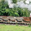 Five No No. Steel Side Tipping Skips 'V' Type - Amerton Railway  16 .06.13  Mick Tick