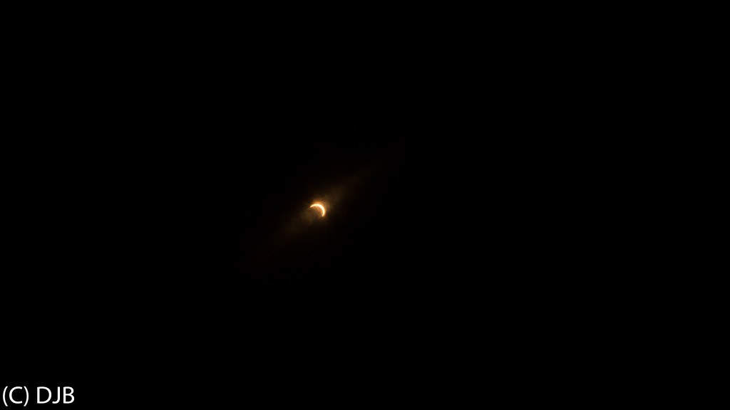Solar Eclipse August 21, 2017 north of Chemult, OR.