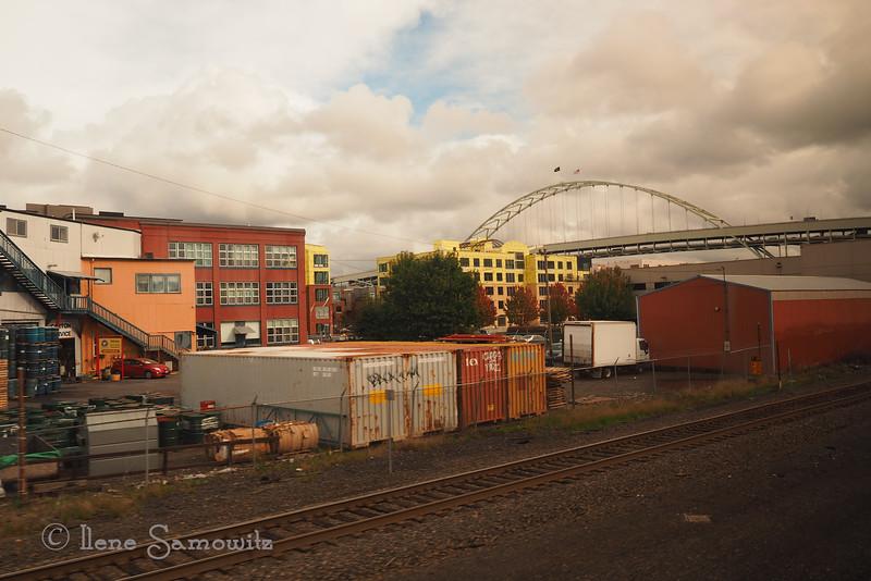 Portland Scene from Amtrak