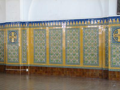 Elegant ceramic tile work - San Diego Santa Fe Depot