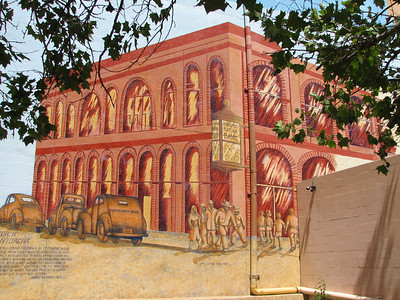 Part of elegant mural in Downtown Albuquerque
