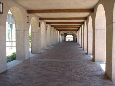 Arch walkway at Albuquerque Santa Fe Depot
