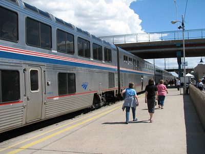 Train parked at Albuquerque station