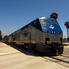 Amtrak, coming into Santa Barbara, CA