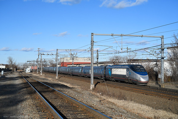 Amtrak's Holiday Rush at Readville MA