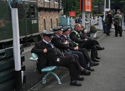 I imagine these three NYMR staff feel they've earned a rest inbetween departures at Grosmont during an early autumn diesel gala. 14/9/13