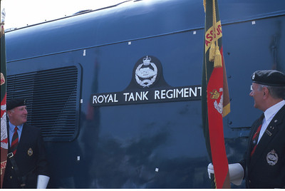 45041 'Royal Tank Regiment' is re-named at Crewe Works Open Day. 17/8/96