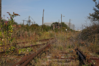 Forgotten tracks at Port Clarence on the north bank of the River Tees. 27/8/10