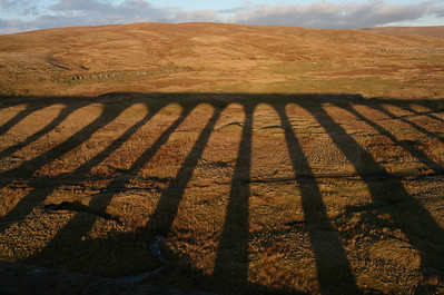 Late on a winter's afternoon, a train crosses the viaduct at Ribblehead. And I'm on it! 24/1/11