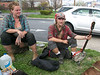 Train Kids, Train Travelers, Traveling Kids, Hobos, Stopped in Baltimore on April 17, 2015, Heather, Michael and Yogi