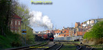 "45428 ""Eric Treacy"" starts its train away from Whitby Town station at Bog Hall, the 17:30 to Pickering on a lovely spring evening, Saturday 9th April 2011. Digital Image No. GMPI8524."