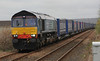 66305 at Dyce on 30th April 2012 with the diverted Inverness to Grangemouth 4D47