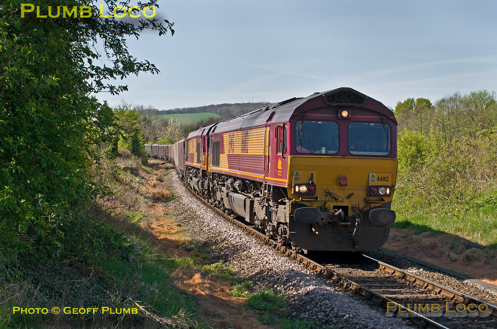 66112 & 66077, Park Mill Farm, 6M48, 15th April 2014