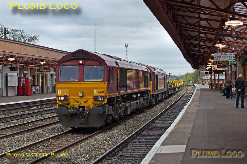 66135 & 60045, Leamington Spa, 6X01, 17th April 2014