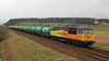 56087 runs past Blackford with the Linkswood tanks on Wednesday 9th April 2014