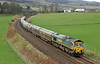 66602 passes Gleneagles with the Oxwellmains to Aberdeen cement on Wednesday 9th April 2014