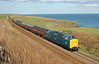 55002 KOYLI with the Deltic Aberdonian on the return run to York at Limpet Mill on Saturday 12th April 2014