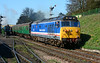 "50027 ""Lion"" departs Ropley in fine style, heading to Alton 18/04/2015.<br /> It gave me goose bumps listening to the stunning departure."