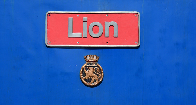 "50027 ""Lion"" & crest named 17/04/1978."