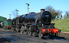 The stunning looking Stanier Black 5 45379 is seen stabled on Ropley shed awaiting its next turn of duty 18/04/2015.