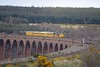 Test Train crosses Culloden Viaduct on Monday 17th April 2017