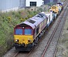 66050 with Kirow crane heads out of Dyce for Elgin from Millerhill on Friday 28th April 2017
