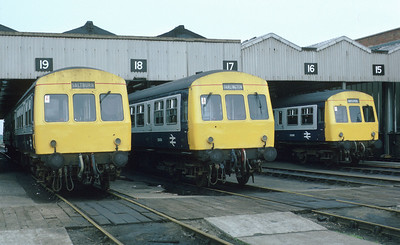 During a Sunday visit to Thornaby depot, Met-Cam DMUs are found at rest. Again, I didn't really want to take this one but 25 odd years later, I'm glad I did. 1/6/86