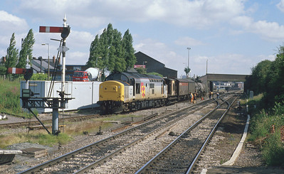 37198 shunts chemical traffic for Albright & Wilson at Langley Green. The works has now closed and the short branch to it has been lifted. 3/7/90