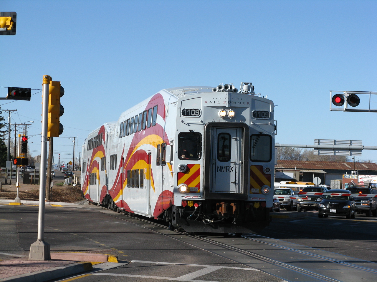 The Rail Runner train.  This commuter train runs from Santa Fe to Albuquerque.