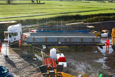 Another set of concrete beams for the new Wick Road bridge. 18/12/2011.