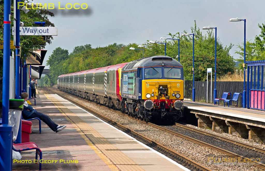 57304, Haddenham Station, 1Z07, 25th August 2013