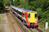 SWT Juniper 458028+030 are seen working 2C28 the 10:25 departure from Wokingham heading for London Waterloo 18/08/2014.