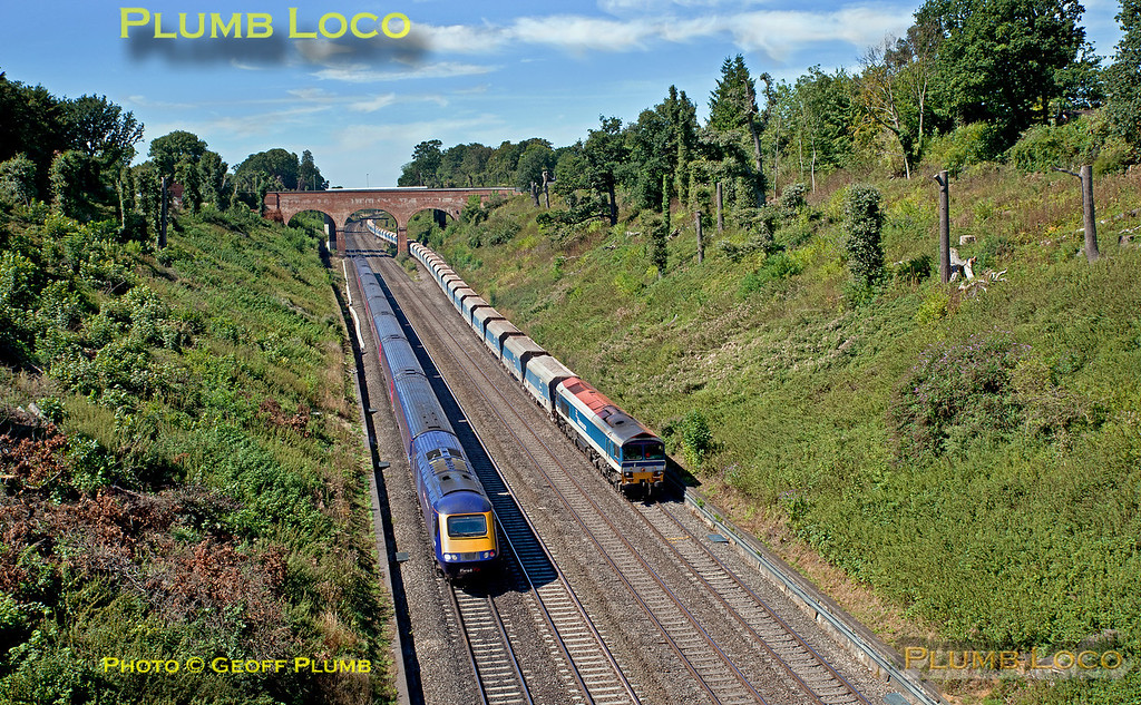 UID HST & 59104, Sonning Cutting, 7A09, 23rd August 2016