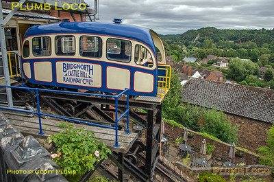 Bridgnorth Cliff Railway, Upper Station, 3rd August 2018