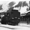 At 3,500 feet Prabichll was at the summit of the line over the Tirol. 97.209 is seen running round her train in February 1968.