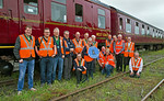 "BLS, ""565 Special - Take 2"", Stewards Team Photo, Norwich Thorpe Yard, 12th May 2018"