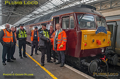 "BLS ""Bootle Brush"", 47245 & Kev Adlam + BTP, Southport Platform 3, 8th December 2019"
